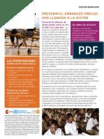 Versión Preliminar de Guía de Recomendaciones Para La Prevención Del Embarazo Adolescente de La OMS