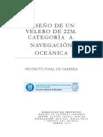 Diseño de Un Velero de 22m.categoría a.navegación Oceánica