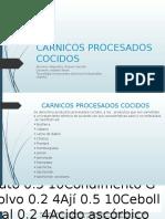 CARNICOS PROCESADOS COCIDOS
