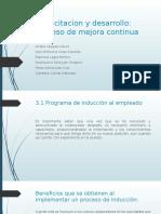 Capacitacion y Desarrollo,Proceso de Mejora Continua