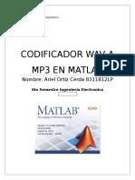 Codificador Mp3 en Matlab