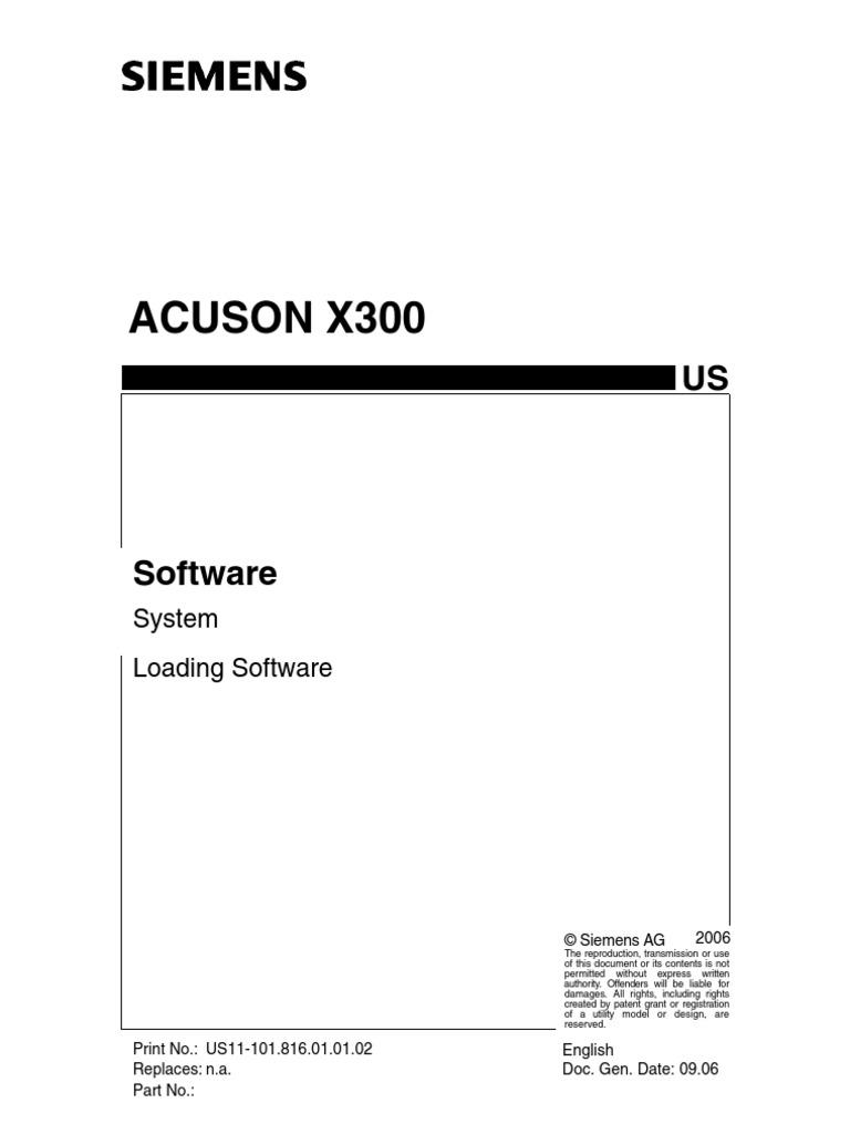 siemens acuson x300 installation computer programs booting rh scribd com siemens x300 service manual pdf siemens x300 service manual download