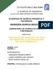 Practica 8- Obtención Del Benzoato de Etilo Por Medio de La Esterificacion Del Acido Benzoico