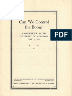 Fritz Machlup - Can We Control the Boom