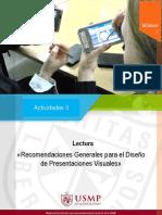 1. Recomendaciones Para El Diseño de Presentaciones Visuales