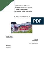 Informe General Plan Trimestral Todas Manos a La Siembra