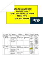 Form 2 Scheme of Work Sem 2 2016