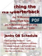 Jenks High School QB manual