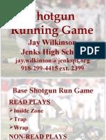 Jenks High School shotgunrun
