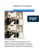 The Age of Baptism in Protestant Churches