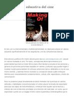 La Dimension Educativa Del Cine (Making Off)