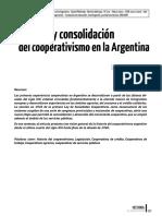 Orígenes y consolidación del cooperativismo en la Argentina.