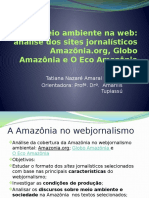Amazônia no webjornalismo