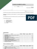 Cuestionario de Ambiente Laboral