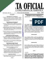Gaceta Oficial Número 40.890 de la República de Venezuela, 26 de abril de 2016