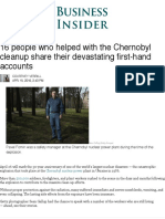 Meet the People Who Worked at Chernobyl - Business Insider