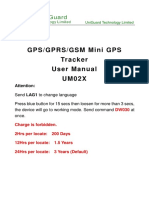 UM02X Mini GPS Tracker 3 Years Battery User Manual