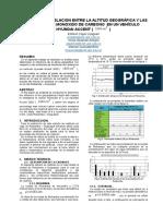 analices de los gases del automovil en el ambiente