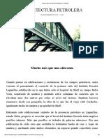 ARQUITECTURA PETROLERA _ Contextos