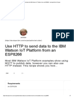 Use HTTP to Send Data to the IBM Watson IoT Platform From an ESP8266 - DeveloperWorks Recipes