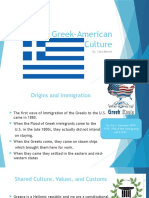 the greek-american culture presentation