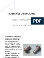 Roblones o Remaches