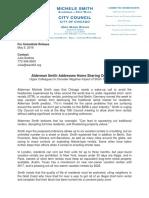 Ald. Smith Press Release Airbnb 5-5-16