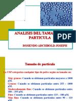 Analisis Del Tamaño de Una Particula