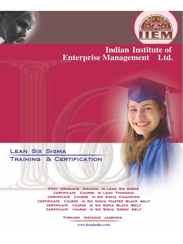 Prospectus Iiem Lean Manufacturing Six Sigma