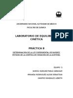 DETERMINACIÓN DE LA LEY EXPERIMENTAL DE RAPIDEZ. ESTUDIO DE LA CINÉTICA DE YODACIÓN DE LA ACETONA.