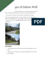 Advantages of Gabion Wall