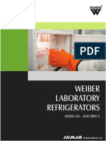 Weiber Laboratory Refrigerators