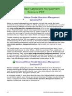 Heizer Render Operations Management Solutions
