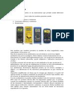 El Multímetro, tester , voltimetro, amperimetro