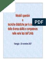 Mod. Operativi e Tecniche Didattiche