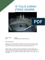 Karya Tulis Ilmiah Agama Islam mengenai Hubungan Manusia dengan Agama Islam