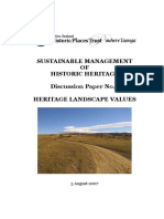Discussion Paper No3 Heritage Landscapes Values