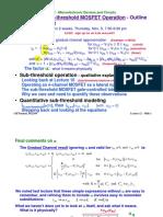 MIT Subthreshold Operation