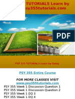 PSY 355 TUTORIALS Learn by Doing-psy355tutorials.com