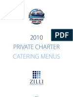 2010 Private Charter Catering Menus