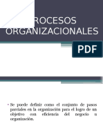PROCESOS ORGANIZACIONALES