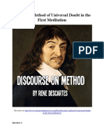 Descartes' Method of Universal Doubt in the First Meditation