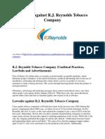Lawsuits against R.J. Reynolds Tobacco Company.pdf