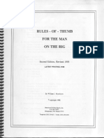 Rules of Thumb for the Man on the Rig - William J. Murchinson