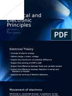 Lecture 1 - Electrical and Electonic Principles