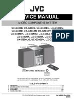 Jvc Ux g305 Service manual
