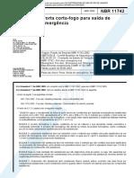 NBR 11742 2003 Porta Corta Fogo Para Saida de Emergencia