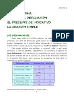Unidad2 La 1º Declinación_presente Indicativo