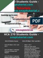 HCA 270 Slingshot Academy/snaptutorial
