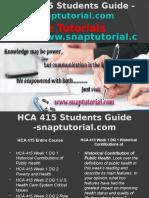 HCA 415 Slingshot Academy/snaptutorial